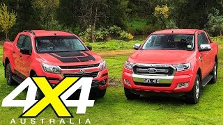 getlinkyoutube.com-Holden Colorado Z71 vs Ford Ranger XLT review | Road test | 4X4 Australia