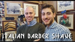 💈 Italian Barber -  Complete Face and Head shave with relaxing shampoo - ASMR no talking