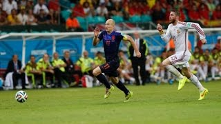 getlinkyoutube.com-Robben's World Record Speed ● World Cup 2014 ● Fastest Run Ever