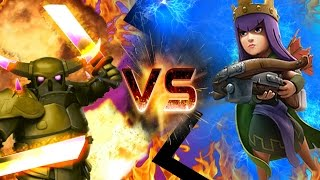 """getlinkyoutube.com-CLASH OF CLANS - ARCHER QUEEN VS PEKKA! """"HOLY SHIT"""" CLASH OF CLANS FUNNY MOMENTS + TROOP RAIDS!"""