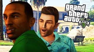 getlinkyoutube.com-GTA 5 Rockstar Characters Mods - Niko, CJ, Tommy, Claude, John Marston and More