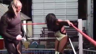 getlinkyoutube.com-Huge Compilation of Belly Attacks In Female Wrestling