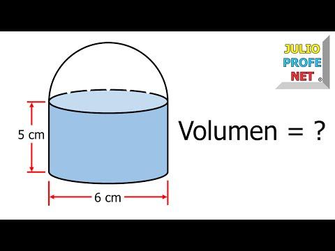Volumen de un cilindro con una semiesfera-Volume of a cylinder with a hemisphere