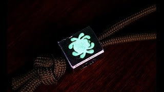 getlinkyoutube.com-Glow in the Dark Powder and Epoxy Mod Project with Paracord Applications