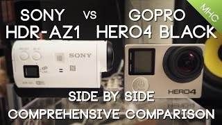 getlinkyoutube.com-Sony HDR-AZ1 vs GoPro Hero4 BLACK HD