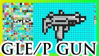 getlinkyoutube.com-Growtopia Speed art / Pixel art - Uzi Gun (Growtopia Level Planner)