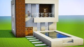 getlinkyoutube.com-Minecraft - Como fazer sua Primeira Casa Moderna Pequena
