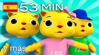 getlinkyoutube.com-Tres gatitos   ¡Y más canciones infantiles!   53 minutos   de LittleBabyBum