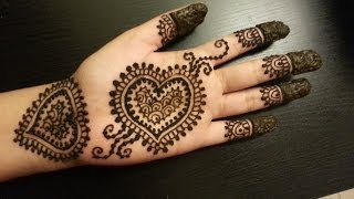 getlinkyoutube.com-Pretty Heart Henna Design - Easy Hearts Shaped Mehendi Design