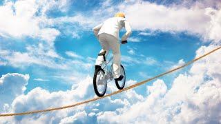 getlinkyoutube.com-BMX TIGHTROPE CHALLENGE! (GTA 5 Funny Moments)