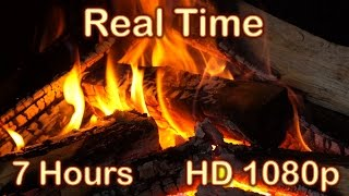 getlinkyoutube.com-✰ 7 HOURS ✰ Fireplace HD 1080p video ✰ REAL TIME ✰ Fireplace Burning ✰ Fire Sound ✰ Relaxing Fire