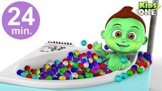getlinkyoutube.com-BABY HULK Ball Pit Show Funny Bath Time | Superhero Learn Colors with POP Balls for Kids