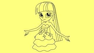 getlinkyoutube.com-How to draw My Little Pony Equestria Girls - Twilight Sparkle step by step