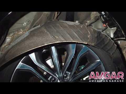 Шумоизоляция колесных арок Hyundai Genesis