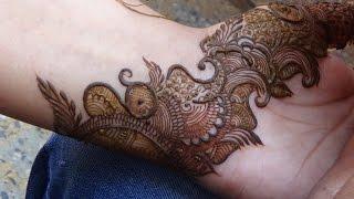 getlinkyoutube.com-Pakistani Indo Arabic Mehndi Design:Mehendi For Upper Side(Full Hand)