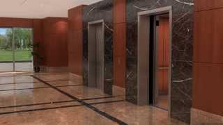 getlinkyoutube.com-Otis Elevator Gen2 3D Animation