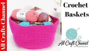 getlinkyoutube.com-Learn to Crochet a Basket for Earth Day