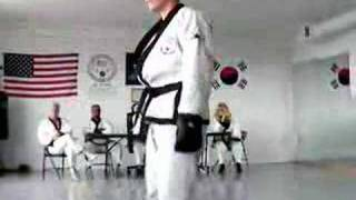 sparring for our black belt