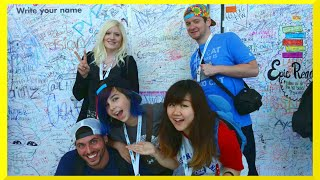 getlinkyoutube.com-Vidcon Trip VLOG 4 - More Con, Fans, Friends, Disney and Dreamworks TV
