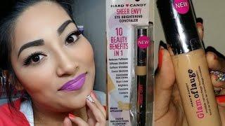 getlinkyoutube.com-NEW Hard Candy Glamoflauge Foundation + NEW Hard Candy Eye Brightening Concealer First Impressions