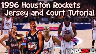 getlinkyoutube.com-NBA 2K16: 1996 Houston Rockets Jersey and Court Tutorial