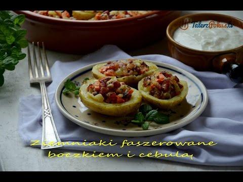 Ziemniaki faszerowane boczkiem i cebulą