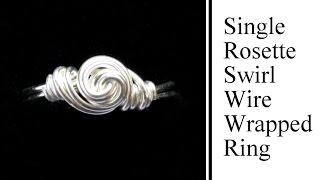 getlinkyoutube.com-Easy Jewelry Tutorial : Rosette Swirl Wire Wrapped Ring