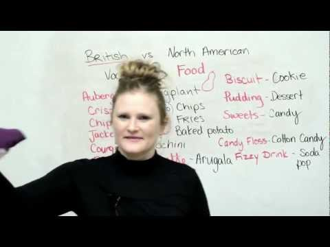 British & American English: Food Vocabulary