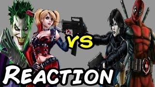 getlinkyoutube.com-Nerds REACT to JOKER & HARLEY QUINN vs DEADPOOL & DOMINO Super Power Beat Down