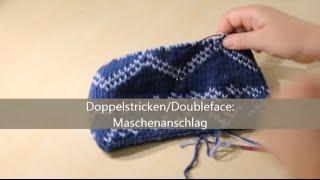 getlinkyoutube.com-Doubleface stricken - verständlich erklärt - Maschenanschlag