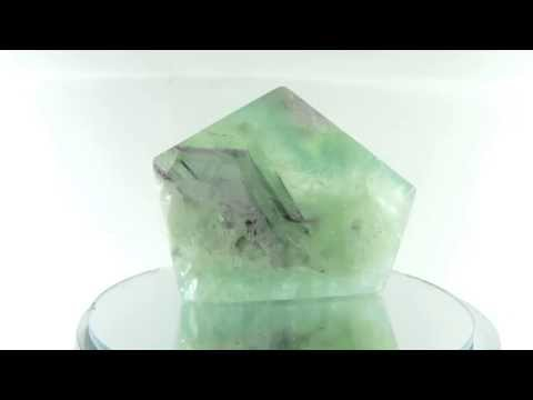 Natural Multicolor Fluorite Gem Polished Slab
