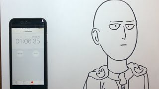 Drawing Saitama in 1 minute (1:06)- One Punch Man