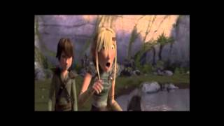 getlinkyoutube.com-How to train your dragon - Astrid meets toothless  - Astrid fandub.wmv