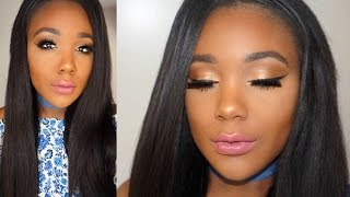 getlinkyoutube.com-Full Face Drugstore Makeup Tutorial For Beginners I  Golden Bronze Makeup Tutorial 2016