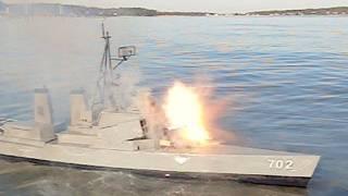 getlinkyoutube.com-R/C Boat's Rocket Attack Backfires