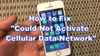 """getlinkyoutube.com-iPhones: How to Fix """"Could Not Activate Cellular Data Network"""""""