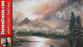 getlinkyoutube.com-'Mountain Sunset' Watercolour Painting Demonstration