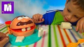 getlinkyoutube.com-Зубастик доктор Дрилл набор пластилина Плейдо распаковка Dr. Drill 'n Fill unboxing Play-Doh set