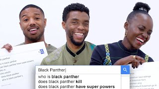 Black Panther Cast Answers the Web's Most Searched Questions | WIRED