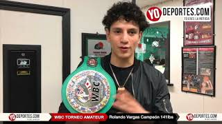 Rolando Vargas Campeon WBC Torneo Amateur en Cicero Stadium