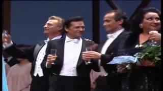 Brindis de La Traviata en la gala lírica de inauguración del Teatro de La Maestranza en Sevilla