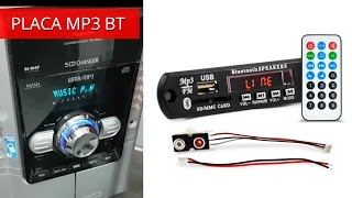getlinkyoutube.com-Placa Mp3 Player USB Bluetooth BT - Instalar no Micro System Radio CD Antigo