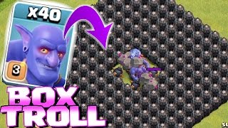 getlinkyoutube.com-Clash Of Clans - ALL TROOPS IN A BOX!! (Box troll 2)