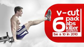 "getlinkyoutube.com-V-Cut RIPPED 6-Pack Abs Killer Workout ""Be a 10 in 2010"""