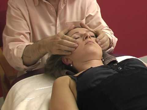 Asian massage techniques on table: neck and head 5