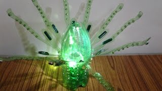 getlinkyoutube.com-Best Out of Waste Plastic Bottle transformed to Evergreen crystal showpiece