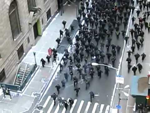 The Dark Knight Rises filming riot scene on Wall Street  1