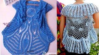 getlinkyoutube.com-Chaleco Para Dama Tejidos a Crochet
