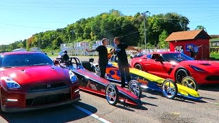 getlinkyoutube.com-CRAZY GTR vs Z06 DRAGSTER RACE!!