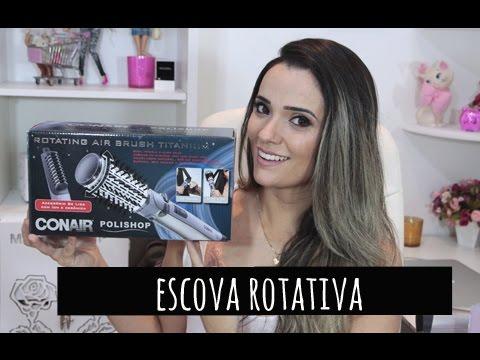Escova Rotativa Conair. Como usar em cabelo Comprido.Por Tatiana Lobo